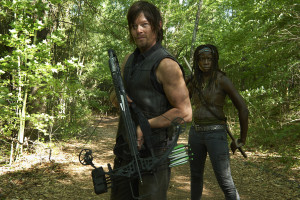 Daryl Dixon (Norman Reedus) and Michonne (Danai Gurira) - The Walking Dead - Season 4 _ Gallery - Photo Credit: Frank Ockenfels 3/AMC