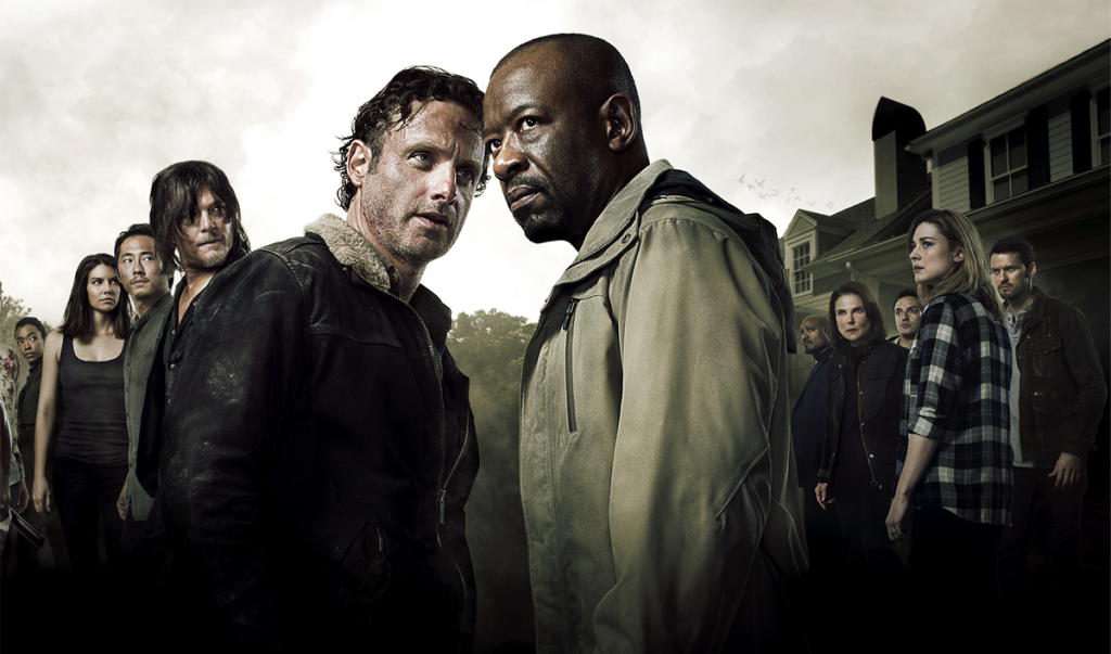WD - Rick, Morgan and cast