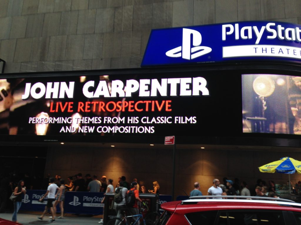 John Carpenter live marquee